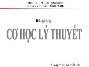 TRNG I HC HNG C KHOA K THUT