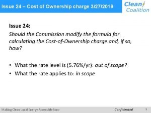 Issue 24 Cost of Ownership charge 3272019 Issue
