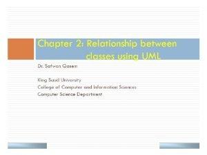 UML Class Example public class Sales private String