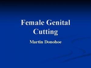 Female Genital Cutting Martin Donohoe Female Genital Cutting