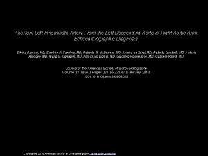 Aberrant Left Innominate Artery From the Left Descending