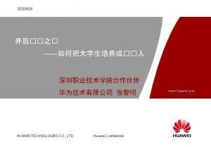 n n n HUAWEI TECHNOLOGIES CO LTD Huawei