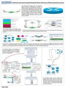 Establishing EndtoEnd Guaranteed Bandwidth Network Paths Across Multiple