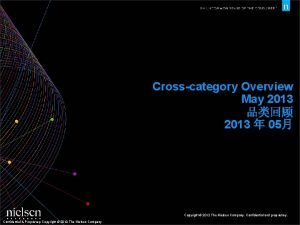 Crosscategory Overview May 2013 2013 05 Copyright 2012