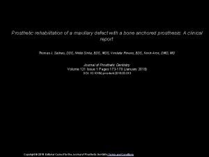 Prosthetic rehabilitation of a maxillary defect with a