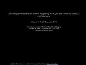 An orthognathic simulation system integrating teeth jaw and