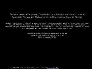 Extrafine Versus Fine Inhaled Corticosteroids in Relation to