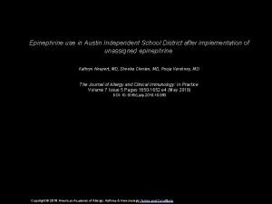 Epinephrine use in Austin Independent School District after