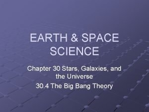 EARTH SPACE SCIENCE Chapter 30 Stars Galaxies and
