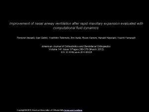 Improvement of nasal airway ventilation after rapid maxillary