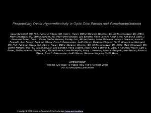 Peripapillary Ovoid Hyperreflectivity in Optic Disc Edema and