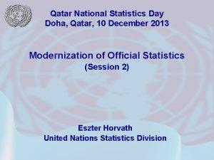 Qatar National Statistics Day Doha Qatar 10 December