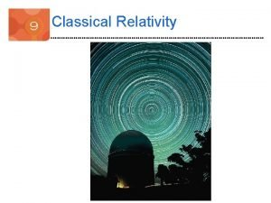 Classical Relativity Introduction Do observers moving relative to