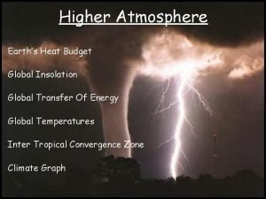 Higher Atmosphere Earths Heat Budget Global Insolation Global