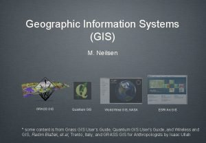 Geographic Information Systems GIS M Neilsen GRASS GIS
