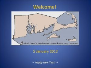Welcome 5 January 2012 Happy New Year Welcome