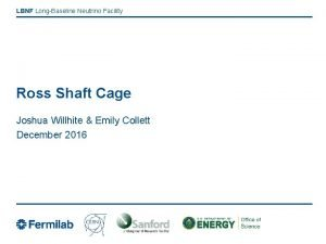 LBNF LongBaseline Neutrino Facility Ross Shaft Cage Joshua