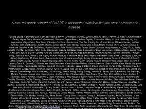 A rare missense variant of CASP 7 is