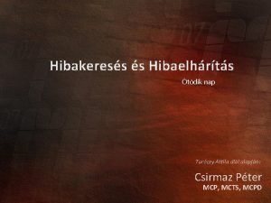 Hibakeress s Hibaelhrts tdik nap Turczy Attila dii
