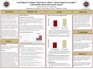 Learning by example Exposure to others success improves