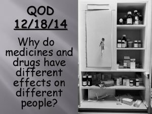QOD 121814 Why do medicines and drugs have