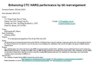 Enhancing CTC HARQ performance by bit rearrangement Document