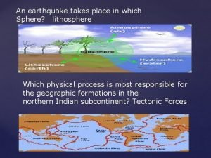 An earthquake takes place in which Sphere lithosphere