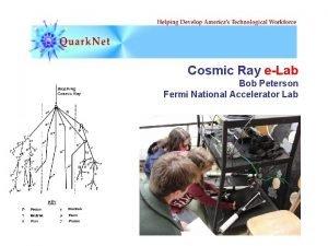 Cosmic Ray eLab Bob Peterson Fermi National Accelerator