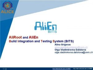 Ali Root and Ali En Build Integration and