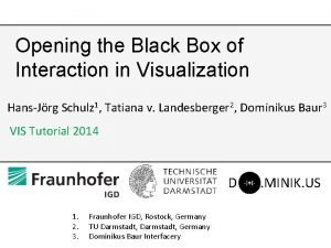Opening the Black Box of Interaction in Visualization