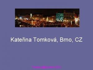 Kateina Tomkov Brno CZ TomkovaAccents 2012 TomkovaAccents 2012