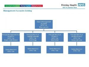 Management Accounts Existing Head of Management Accounts WTE