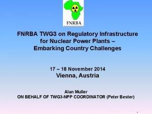 FNRBA TWG 3 on Regulatory Infrastructure for Nuclear