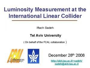 Luminosity Measurement at the International Linear Collider Iftach
