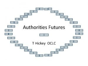 Authorities Futures T Hickey OCLC Why authorities Searching