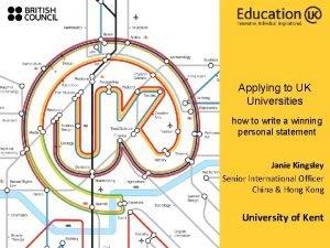 Applying to UK Universities how to write a