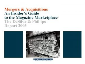Mergers Acquisitions An Insiders Guide to the Magazine