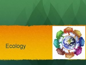 Ecology Climate Drives Ecology Both the sun and
