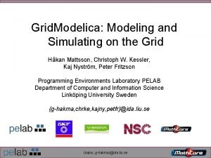Grid Modelica Modeling and Simulating on the Grid