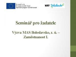Semin pro adatele Vzva MAS Boleslavsko z Zamstnanost