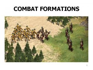 COMBAT FORMATIONS 1 COMBAT FORMATIONS Mission Terrain Situation