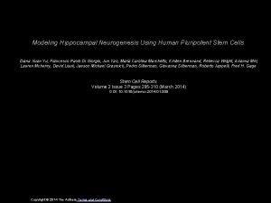 Modeling Hippocampal Neurogenesis Using Human Pluripotent Stem Cells