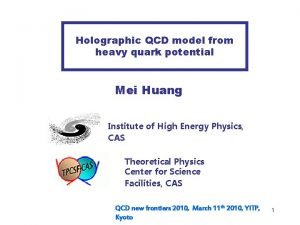 Holographic QCD model from heavy quark potential Mei