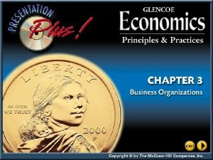 Chapter Objectives Section 1 Forms of Business Organization