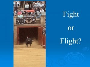 Fight or Flight What changes occur in your