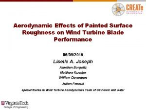 Aerodynamic Effects of Painted Surface Roughness on Wind