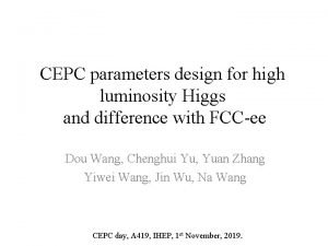 CEPC parameters design for high luminosity Higgs and