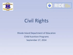 Civil Rights Rhode Island Department of Education Child