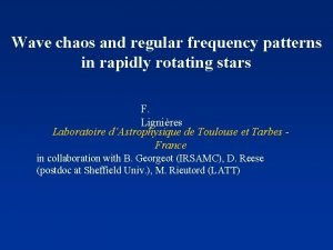 Wave chaos and regular frequency patterns in rapidly