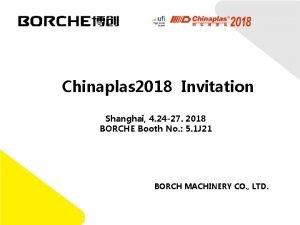 Chinaplas 2018 Invitation Shanghai 4 24 27 2018